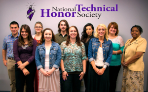 Group shot of 2015 inductees into the National Technical Honor Society